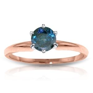 SOLITAIRE RING WITH 0.50 CT. NATURAL BLUE DIAMOND